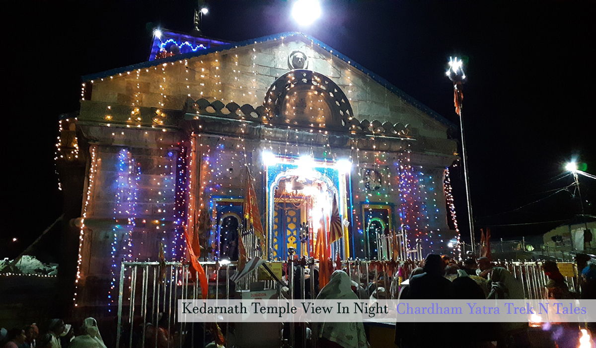 Keadarnath Temple in Night